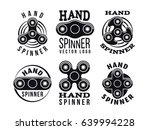hand spinner vector logo and... | Shutterstock .eps vector #639994228