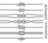 sailing knots horizontal... | Shutterstock .eps vector #639994258