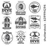 underwater scuba diving club... | Shutterstock .eps vector #639994294