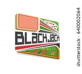 vector logo for blackjack...