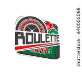 vector logo for roulette gamble ...   Shutterstock .eps vector #640002088