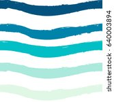 blue  seamless wave pattern ... | Shutterstock .eps vector #640003894