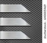 metal perforated background... | Shutterstock . vector #640005469
