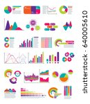 elements of infographic with... | Shutterstock .eps vector #640005610