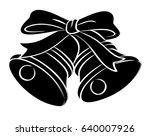 bells with bow.  | Shutterstock .eps vector #640007926