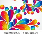 colorful abstract background... | Shutterstock . vector #640010164