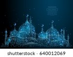 abstract image of arabic mosque ... | Shutterstock .eps vector #640012069