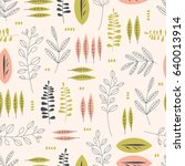 seamless pattern with different ... | Shutterstock .eps vector #640013914