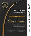 beautiful golden certificate of ...   Shutterstock .eps vector #640014460