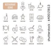 restaurant  icons. set of... | Shutterstock .eps vector #640015813