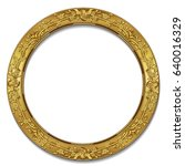 round frame gold color with... | Shutterstock .eps vector #640016329