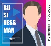 businessman. vector background... | Shutterstock .eps vector #640019380