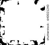 grunge black white square... | Shutterstock .eps vector #640021240