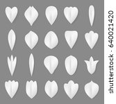 vector paper flowers petal and... | Shutterstock .eps vector #640021420