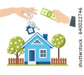 buying a house  property. real...   Shutterstock .eps vector #640022746