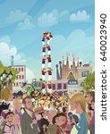 people tourism in barcelona   Shutterstock . vector #640023940
