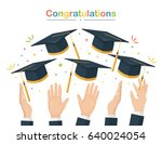 graduating students of pupil... | Shutterstock .eps vector #640024054