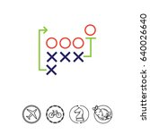 football strategy | Shutterstock .eps vector #640026640