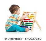 baby child kid playing with... | Shutterstock . vector #640027360