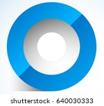 3d abstract circle icon with...
