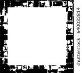 grunge black white square... | Shutterstock .eps vector #640032814