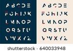 modern minimal uppercase...   Shutterstock .eps vector #640033948