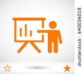 teacher icon stock vector... | Shutterstock .eps vector #640036018