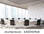 conference room interior with a ... | Shutterstock . vector #640040968