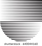 circle logo with lines.unusual... | Shutterstock .eps vector #640044160