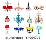 chandeliers | Shutterstock .eps vector #64004779