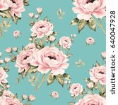 seamless pattern of bouquets of ... | Shutterstock . vector #640047928