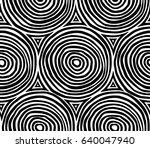 decorative hand drawn seamless... | Shutterstock .eps vector #640047940