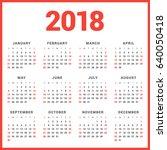 calendar for 2018 year on white ... | Shutterstock .eps vector #640050418
