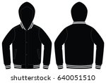 warm up jacket design  black... | Shutterstock .eps vector #640051510