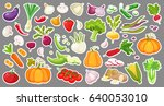 big set colorful isolated... | Shutterstock .eps vector #640053010