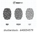 vector fingerprint icons set ... | Shutterstock .eps vector #640054579