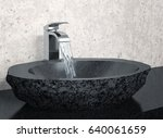 bathroom faucet with flowing... | Shutterstock . vector #640061659