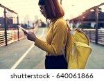 woman travel trip wanderlust...   Shutterstock . vector #640061866