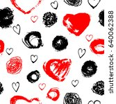 vector seamless pattern with... | Shutterstock .eps vector #640062388