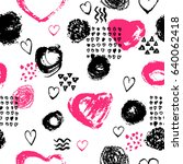 vector seamless pattern with... | Shutterstock .eps vector #640062418