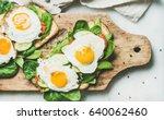 healthy breakfast sandwiches....   Shutterstock . vector #640062460