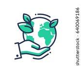 green earth   modern vector... | Shutterstock .eps vector #640069186