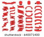 ribbon vector icon set on white ... | Shutterstock .eps vector #640071400