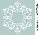 oriental vector round white... | Shutterstock .eps vector #640078894