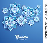 ramadan kareem beautiful... | Shutterstock .eps vector #640080370