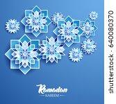 ramadan kareem beautiful... | Shutterstock .eps vector #640080370