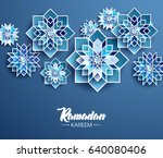 ramadan kareem beautiful... | Shutterstock .eps vector #640080406