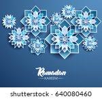 ramadan kareem beautiful... | Shutterstock .eps vector #640080460