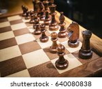 chess set on chess board play...