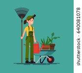 Cool Vector Gardener Character...